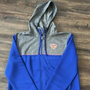 New York Knicks Full Zip Hooded Sweatshirt Sz L